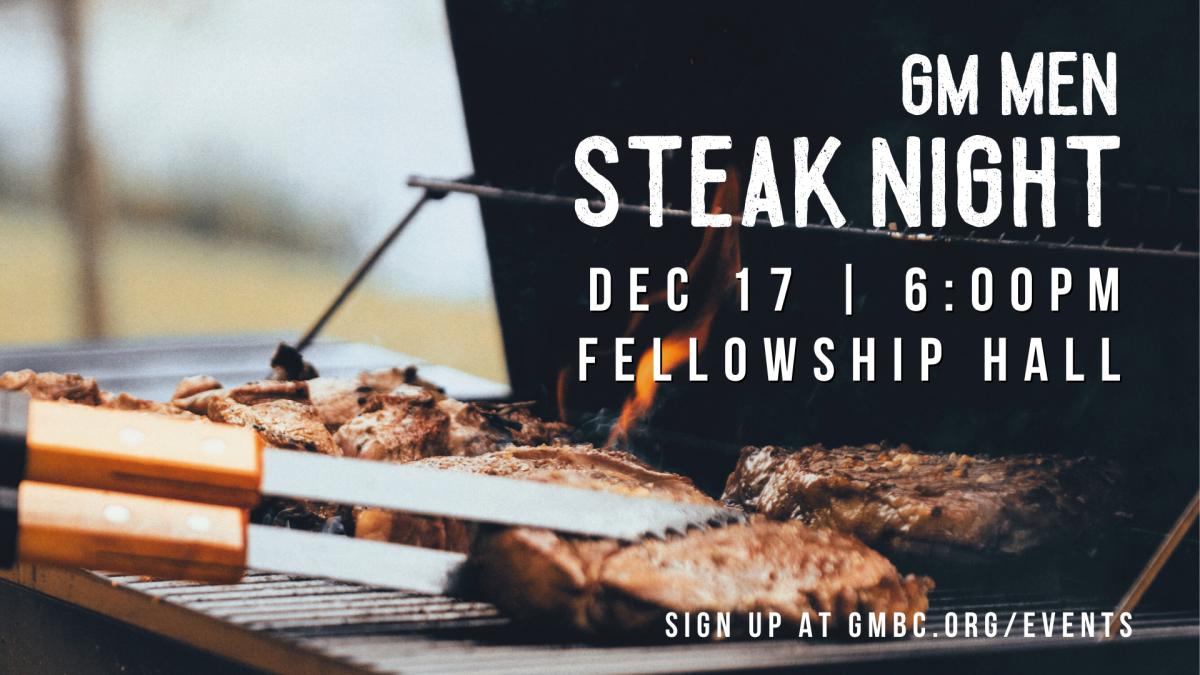 GM Men - Steak Night