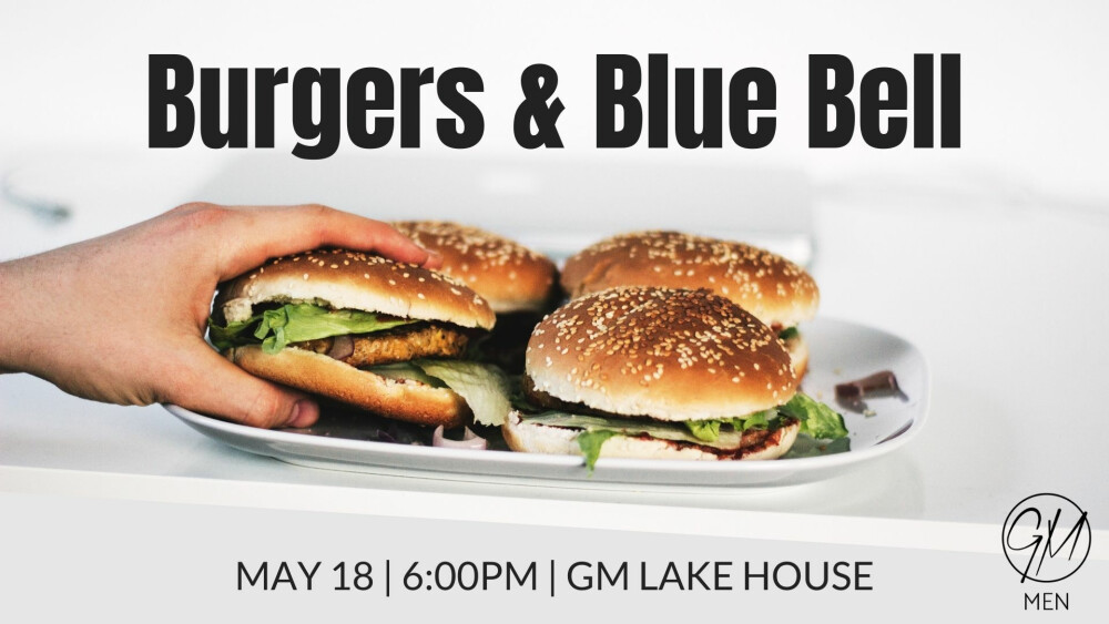 Men Burgers and Bluebell